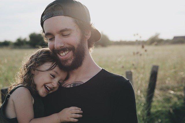 táta s dcerkou